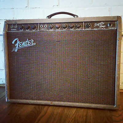 1960 Vintage Fender Brown Super Guitar Amp
