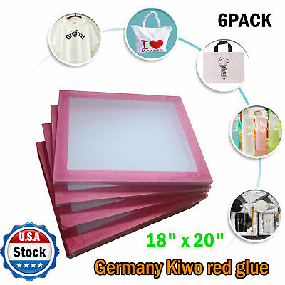 6 Pack 18 X 20 Aluminum Frame Silk Screen Printing Screens With 110 Mesh Count