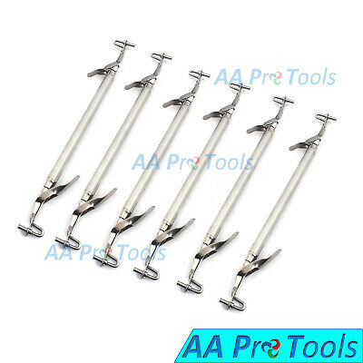 6 Pieces Amalgam Carrier Double Ended Large Surgical Dental Instruments