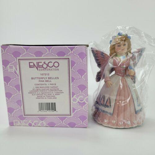 VTG 1994 Enesco MARJORIE SARNAT Butterfly Belles Flower Pink Bell 107212 New