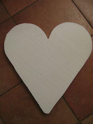 Maiherz Maiherzen Styropor Herz/Herzen 60 cm Liebe Hochzeitsdeko Krepppapier