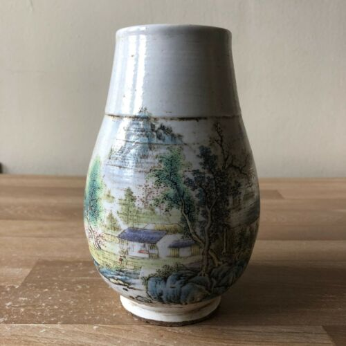 Lovely Chinese Signed Scenic Vase