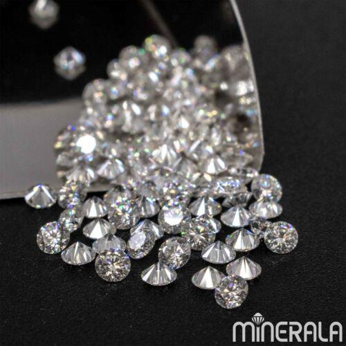 MOISSANITE ROUND DIAMOND FACETED CUT 1mm- 4mm LOOSE D-E WHITE VVS WP002B5