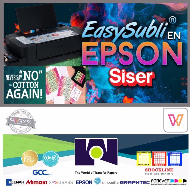 """EPSON Siser EasySubli Sublimation Heat Transfer Vinyl 8.4"""" x 11"""" - 5 Sheets Pack"""