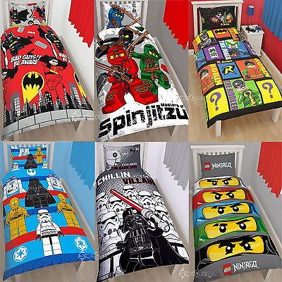 Official Lego Single Panel Duvet Cover Bed Set Movie Batman Star Wars New Gift (Lego Batman Bettwäsche)