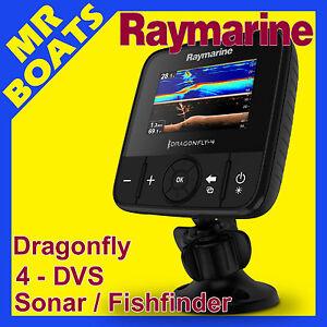RAYMARINE DRAGONFLY 4 DVS FISHFINDER  ✱ CHIRP Sonar & DownVision ✱ Fish Finder