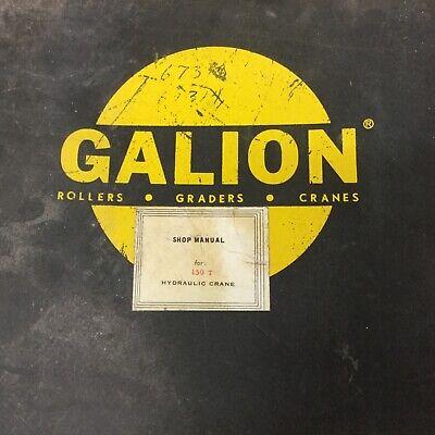 Galion 150T SERVICE SHOP REPAIR MANUAL HYDRAULIC TRUCK MOBILE CRANE GUIDE BOOK - Mobile Shop Crane