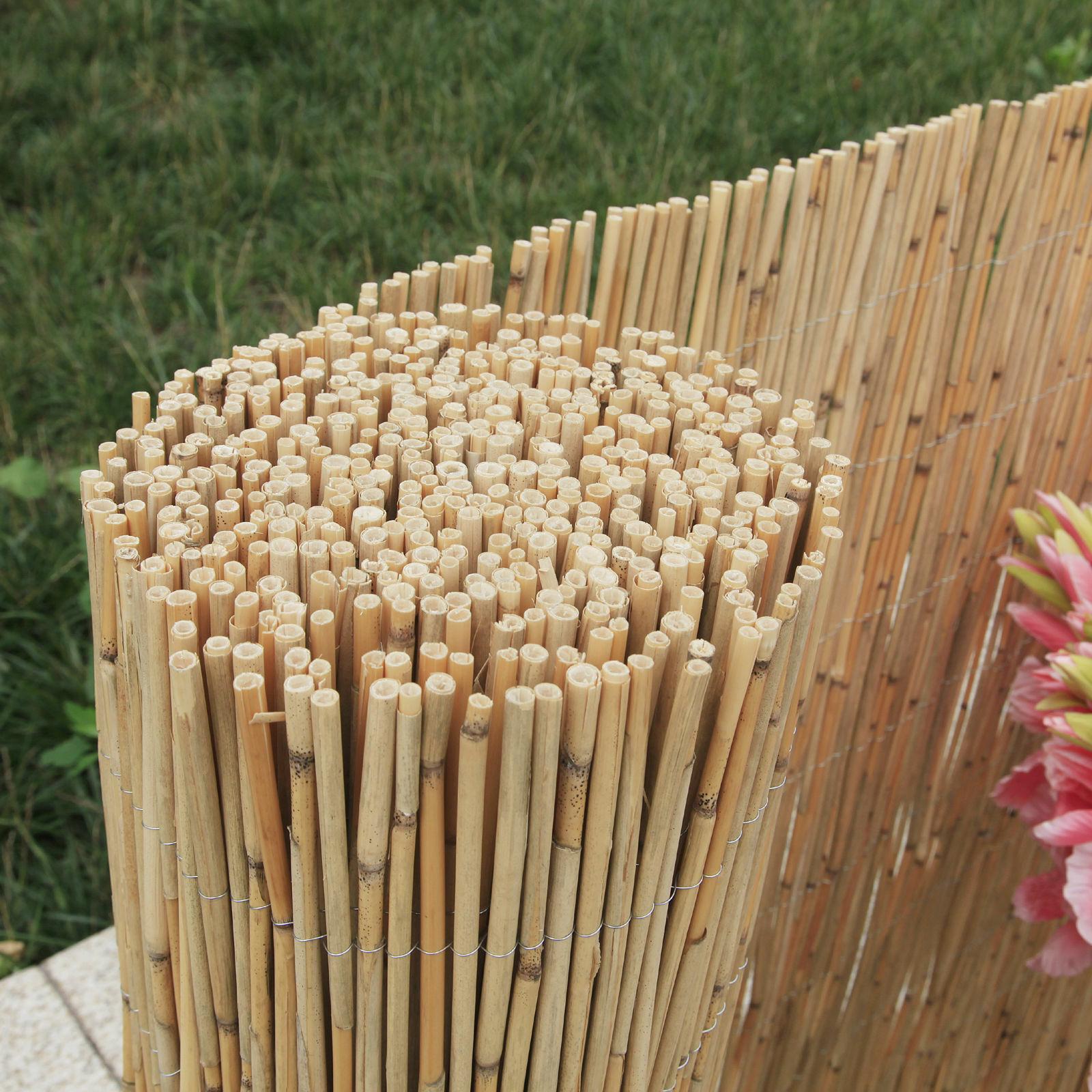 Schilfrohrmatte Schilf Schilfmatte Sichtschutz Bambus Garten Balkon Zaun Deko