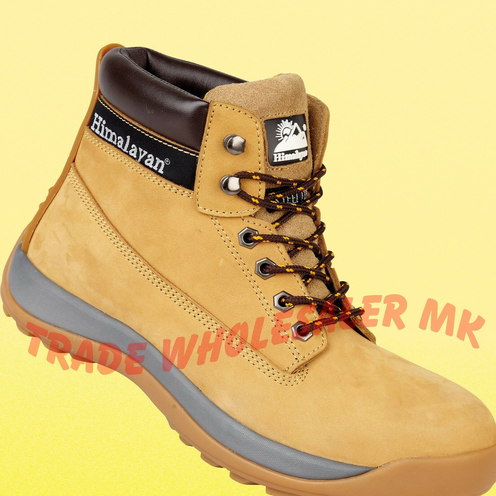1a514646f38 Details about Himalayan Steel Toe Safety Work Boots Iconic Design 5150  Wheat Honey Boots