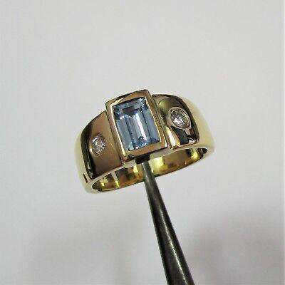 340 - Attraktiver Brillant Ring aus Gelbgold 585 - 7,66 Gramm schwer - G22