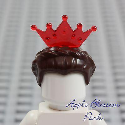inzessin Minifig Dunkelbraun Queen Haare - Zopf W/ Rot Tiara (Rot-tiara)