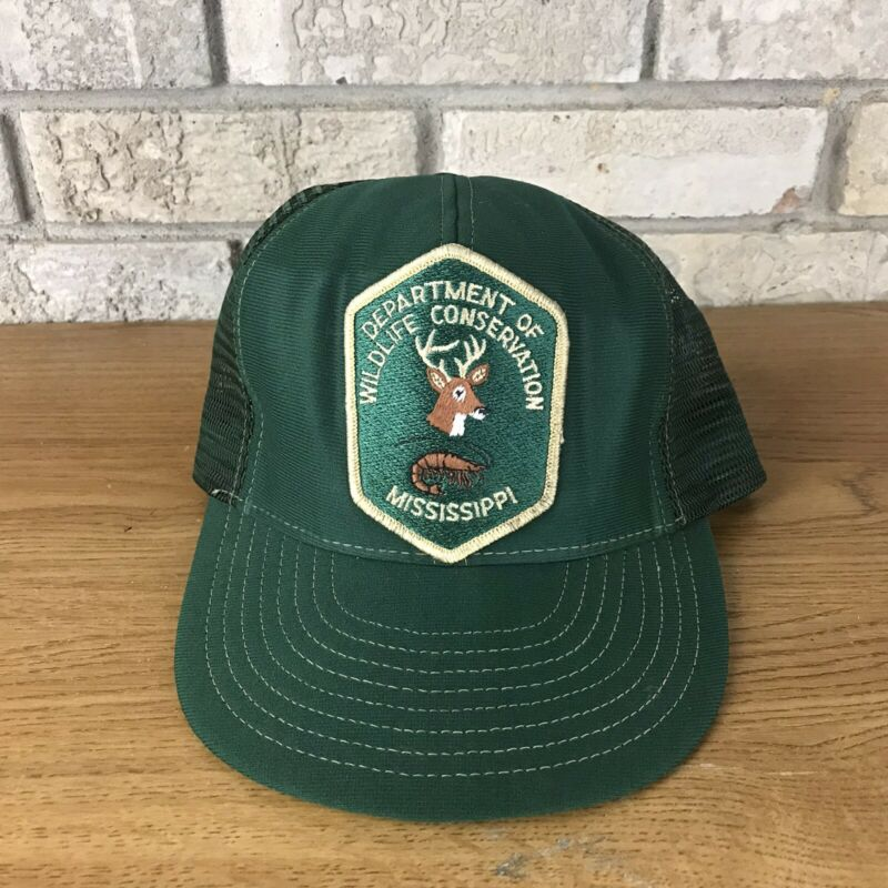 RARE Vintage Mississippi Department Of Wildlife Conservation Trucker Cap Hat Vtg