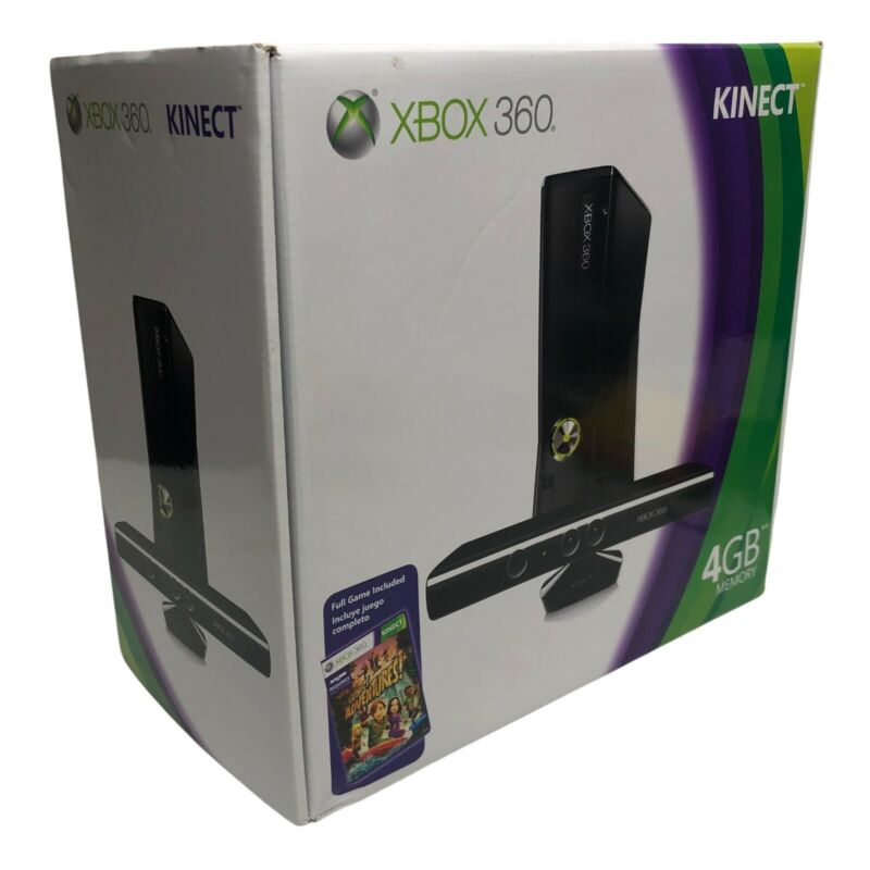 Xbox+360+Kinect+4GB+Console+with+Kinect+%26+Adventure+Game+New+Factory+Sealed