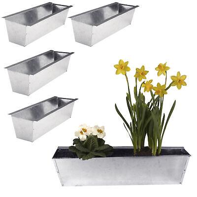4x Blumenkasten für Europalette Balkonkasten Einsatz Pflanzkasten verzinkt 38cm