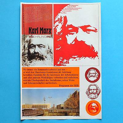 DDR Plakat Poster 379 | Karl Marx Ehrung 1983 | 41 x 29 cm Orig. online kaufen