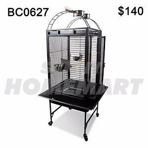Large Black Arched Roof Pet Bird Parrot Canary Cage Castor Wheels Richlands Brisbane South West Preview