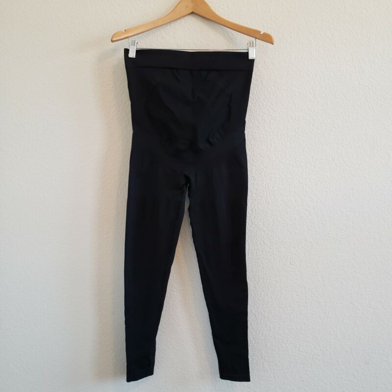 Blanqui Belly Support Back Support Leggings Black Maternity Pants Womens Size S