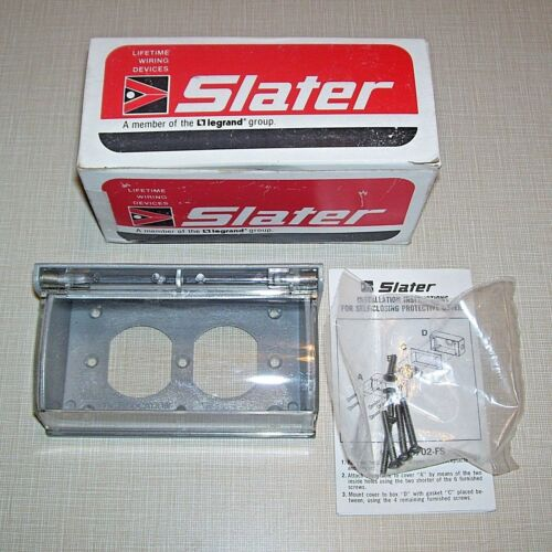 SLATER 3700-FS Self-Closing Horizontal Outdoor Duplex Receptacle Outlet Cover