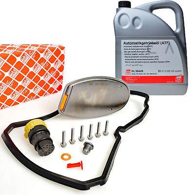 FEBI Hydraulikfiltersatz + 5L ATF Automatikgetriebe 722.6 inkl. Stecker Ölablas gebraucht kaufen  Norderstedt