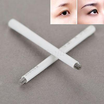 10pcs Microblading Eyebrow Pen Needle 18pin Round Fog Tattoo Training Blades Kit