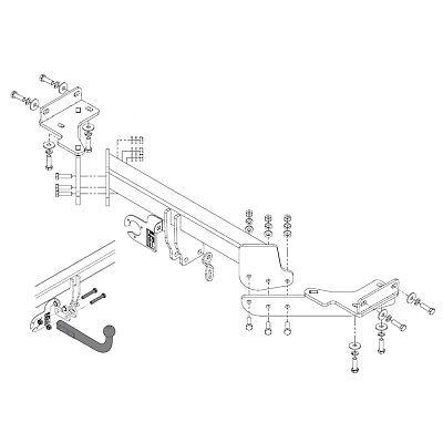 Fixed Swan Neck Hyundai Tucson Tow Bar for Hyundai Tucson 2015 to 2018 models