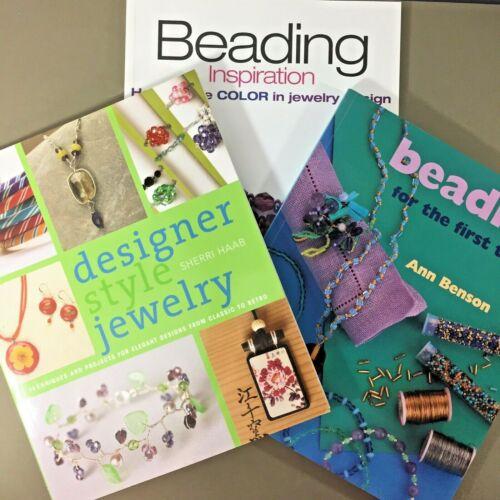 Lot of 3 beading jewelry making books Beading Designer Style Retro Inspiration