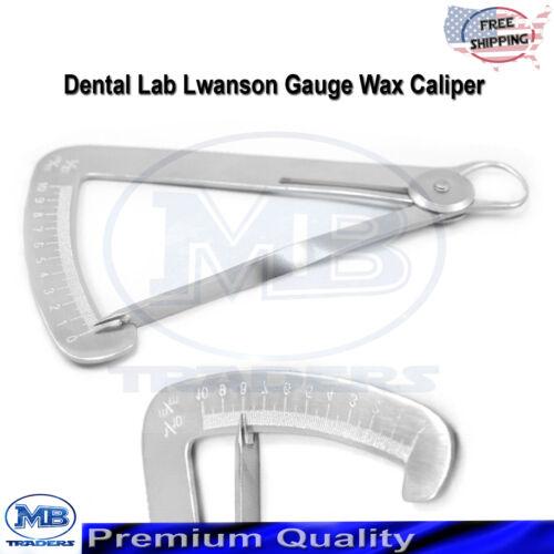 Dental Iwanson Crown Gauge Thickness Measuring Spring Caliper Lab Instruments