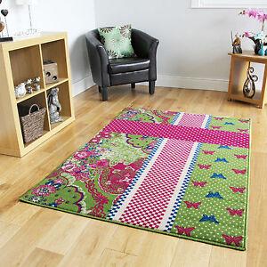 blue butterfly modern rugs small large girls baby kids room mat cheap