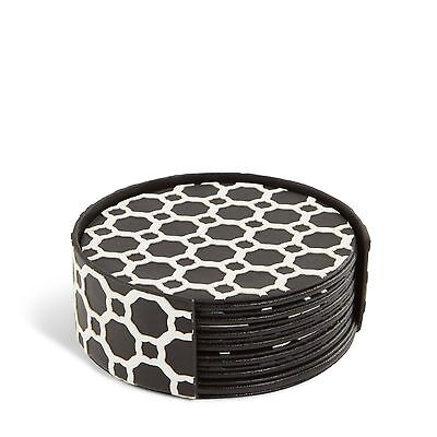 Vera Bradley Laser-Cut Coaster Set in Midnight Geometric