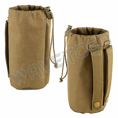 VISM NcSTAR Militray MOLLE Water Bottle Hydration Pouch Bag Carrier Hiking Tan