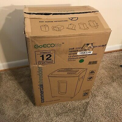 Goeco-life Platinum Series 12 Sheet Crosscut Commercial Shredder Gxc121pi