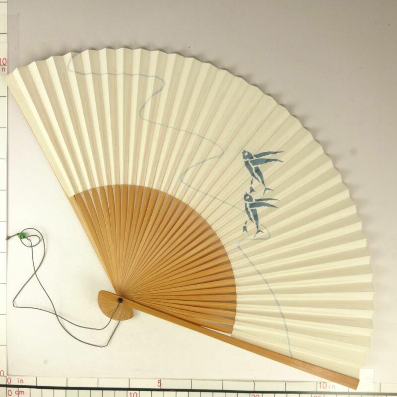 YU179 SENSU Japanese Fan Art painting Nihonga Picture Traditional crafts Vintage