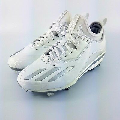adidas Energy Boost Icon 2 Metal Baseball Cleats - White Silver - Q16532 -  Sz  7 1cc0c3d16