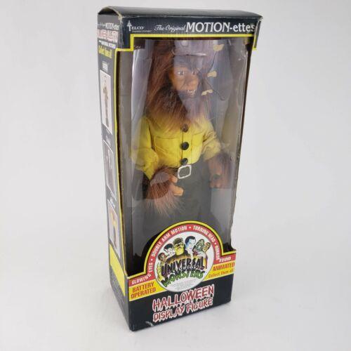 Vintage 1992 Telco Motion-ettes Universal Studios Monsters WOLFMAN Halloween Box
