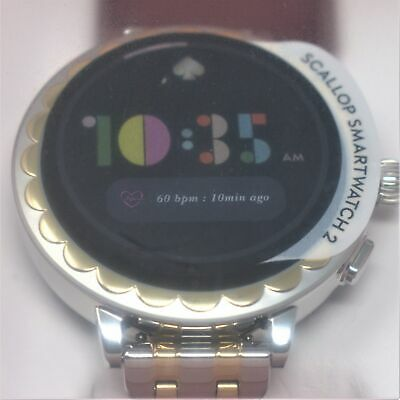 KATE SPADE NEW YORK SCALLOP SMARTWATCH 2 TWO-TONE STAINLESS STEEL KST2012