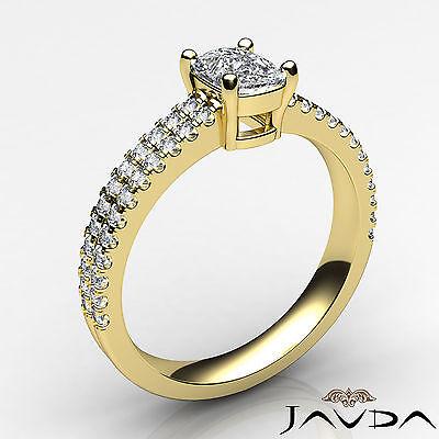 Cushion Diamond Engagement GIA G VVS2 18k Yellow Gold U Cut Prong Set Ring 0.8Ct 1