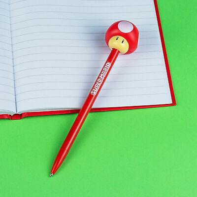 Super Mario Pilz Stift mit Topper Nintendo Sammelobjekt Schreibwaren Bleistift
