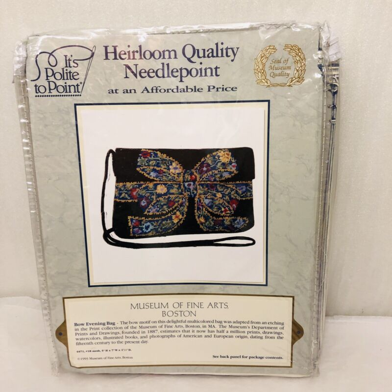 New Bow Evening Bag Needlepoint Kit from Boston Museum of Fine Arts