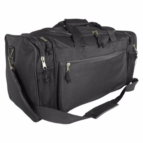 DALIX Brand New Duffle Bag Sports Duffel Bag in Black Gym Bag