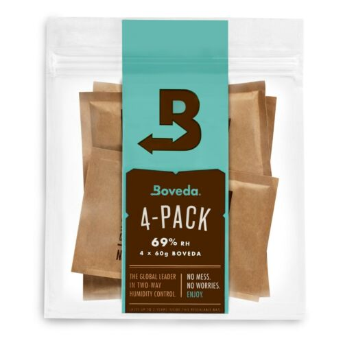 Boveda 69% RH 2-Way Humidity Control | Size 60 for Every 25 Cigars | 4-Count