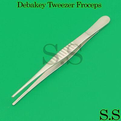 10 Pcs Dental Veterinary Debakey Tweezer 6 Frocep Surgical Pliers Instruments
