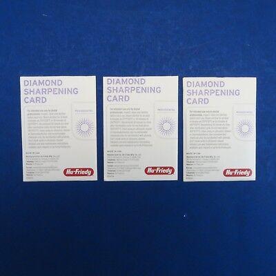 Dental Diamond Sharpening Cards Dscset Kit 3 Pcs Hu Friedy Original