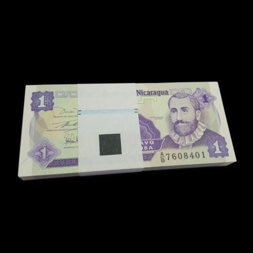 Bundle Lot 100 PCS Nicaragua 1 Centavos, 1991, P-167, UNC, Banknotes