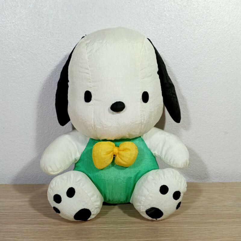 "Pochacco Sanrio Vintage Nylon Plush Doll Toy 8.5"" Japan"