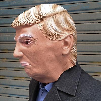 Donald Trump Halloween Full-head Latex Mask Cosplay Carnival Costume Mask - Donald Trump Halloween Costume