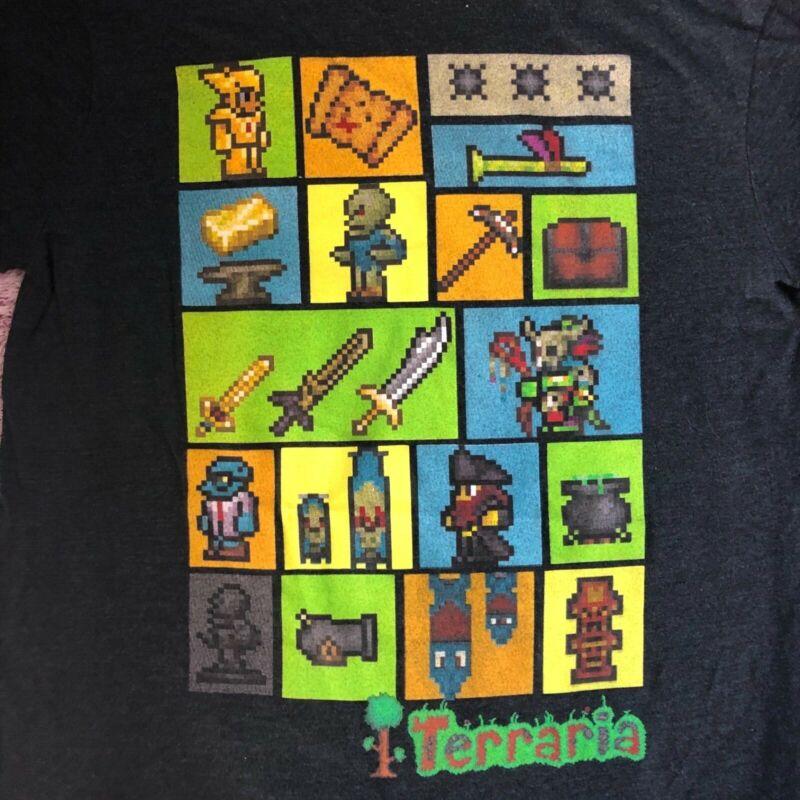 terraria kids shirt