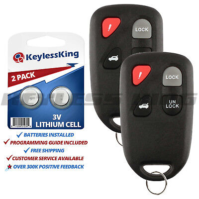 2 Replacement for 2003 2004 2005 Mazda 6 Key Fob Keyless Entry Car Remote