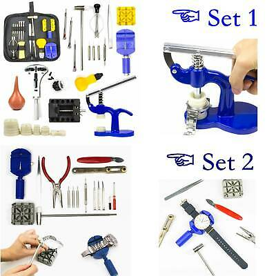 Watch Repair Tool Kit Case Opener Link Remover Spring Bar Tool Set Carrying Case