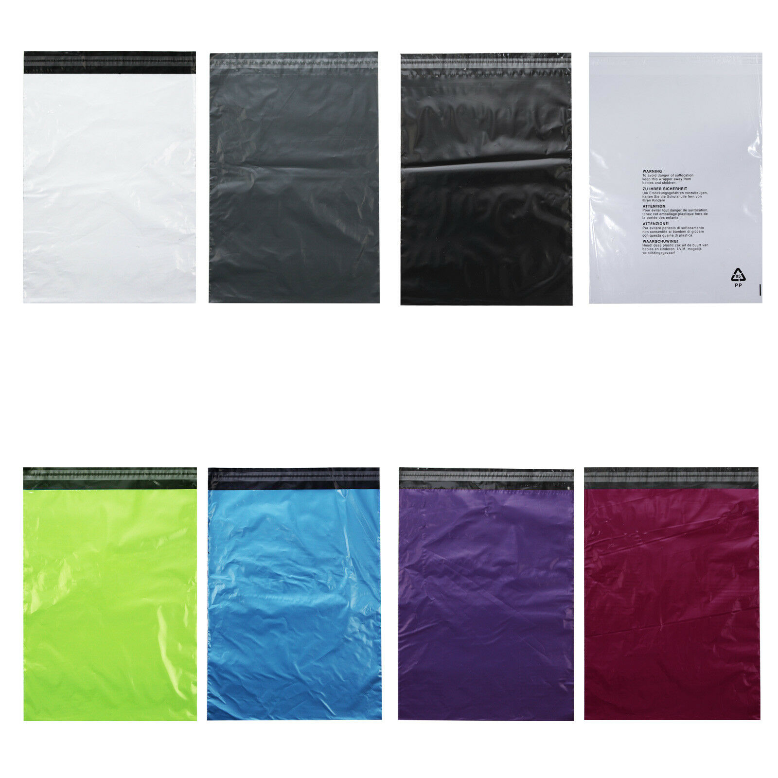 25 Versandtaschen Versandbeutel Plastik Folie 30x40 cm selbstklebend