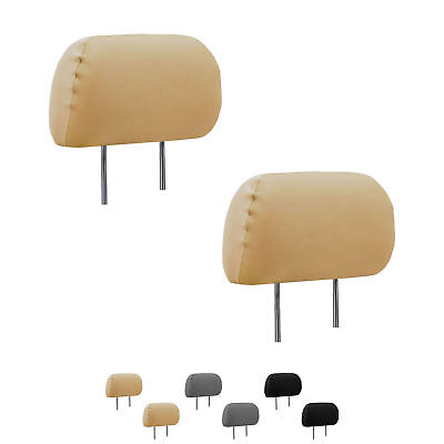 Deluxe Leatherette Headrest Covers Set of 2